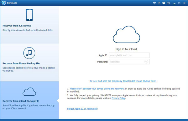 Select iCloud Recovery Mode